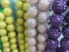 pink resin snow ball ,color poly resin balls ,