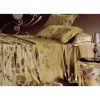 4pc good price duvet cover satin bed sheet