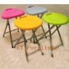 Blow mold plastic folding stool
