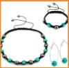 Blue cheap jewelry shamballa necklace set