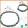 Blue cheap jewelry shamballa necklace set