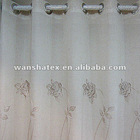 80% Polyester 20% Linen blend flower embroidered fabric curtain