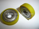 Yellow color rubber coated ball bearing 6200z