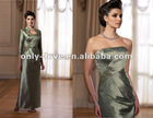 exquisite Taffeta strapless pleated bodice matching jacket mother evening dress OLM115