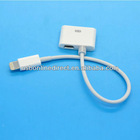 for iPhone 5 2 in 1 Micro USB and 30 Pin Female to Lightning 8 Pin Male Sync Data Cable Adapter