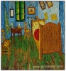 Rep Handmade Oil Painting Van Gogh Bedroom at Arles