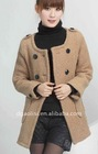 lady' flannel fashion hooded coat