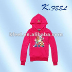 Little girls kids print plain hoodies animal print hoodies