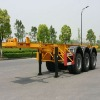 40ft Carbon-steel Skeletal Container Trailer Chassis (Rear 3 FUWA axles)