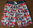 MEN'S COTTON/NYLON PIGMENT PRINT BOARDSHORT