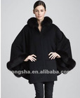 Winter Trimmed Cashmere Cape for ladis HST804