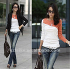 New Design Lady Two color abut Tops