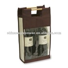 fashion pvc Wine bottle Bags for gift