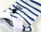 Blue Striped Polo Dog clothes