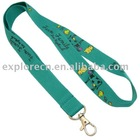 Polyester promotion lanyard with simple hook