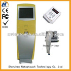 Touch screen Kiosk with thermal printer
