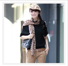 Loose bat in the fashion heap sleeve collar sweater -4 color