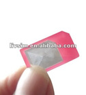 HOT SELLING The thinnest only 0.8mm plastic micro sim adapter for iphone4/4S