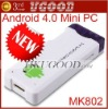 New Arrival MK802 Android 4.0 Mini PC -on-a-stick Thumb Drive Android4.0 IPTV Smart HD Player 512MB/1GB RAM+4GB ROM Preorder
