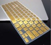 Laptop METALLIC Silicone KeyBoard Case Protector Cover For MacBook 5 colors new arrival