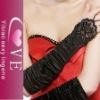 satin bridal glove
