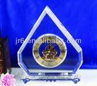 Handmade Souvenir Glass Clock and Promotional Crystal Clock Gift