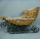 New Hot Sale Resin Handmade Christmas Decorative Sleigh