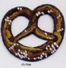 Applique embroidered patch - Pretzels