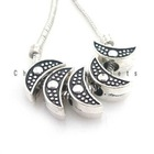 2012 New Wholesale and hot sale moon Charms metal Beads Fit fashion DIY beads Jewelry Making for Bracelets 8A032