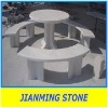 Stone marble garden bench
