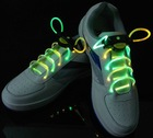 yelow and green color led flash shoelace