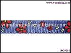 Flower patern nylon printed webbing
