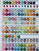 imitate rhineston pattern resin button