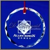 Personalized engraved crystal christmas ornament
