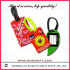 High quality pvc leather travel tags and luggage tags