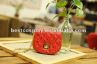 red black green blue cute Zipper PU shoulder Bags For Women