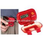 promotional digital pedometer with clip