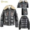 mens bomber coat with fur collar