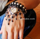 2012 New style.Wholesale Cow Leather fashion Summer hot sell Personality bracelet watch