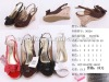 2012 romantic gentle lady wedge sandal with bowknot