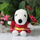 Lovely stuffed & Plush toys snoopy dog with dress in plush animal