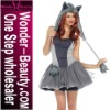 Women wolf animal costumes with feathered cap