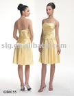 Dropped waist bridesmaid dress of Charmeuse