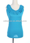 2012 fashion neck designs for ladies tops