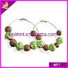 beautiful newest style cheap plastic bead earrings