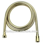 Brass Zirconium Gold PVD Plating Shower Hose