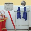 modern stainless steel clothes hanger used in slaughter house or hotel