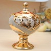 Ceramic jar&gold candy porcelain jar home decoration21016