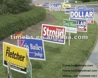 Corrugated plastic lawn sign with stake