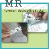 Hologram stickers,hologram destructible security labels material